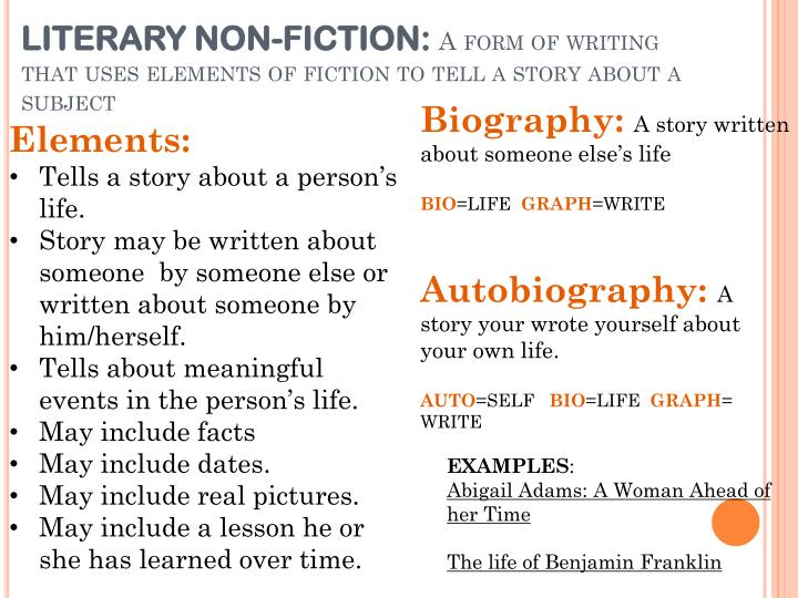 LITERARY NON-FICTION: