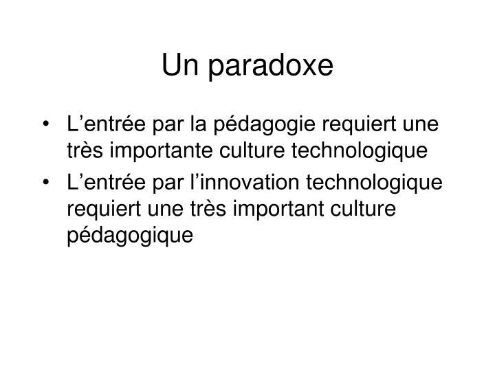 Un paradoxe