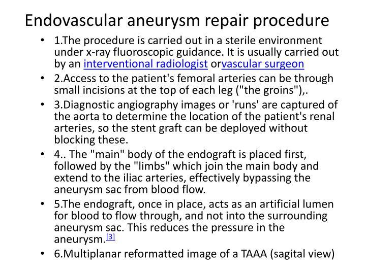 Endovascular aneurysm