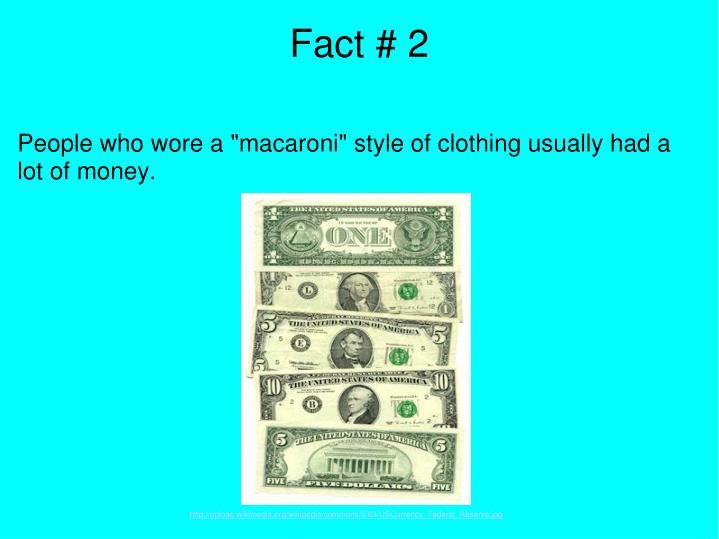 Fact # 2