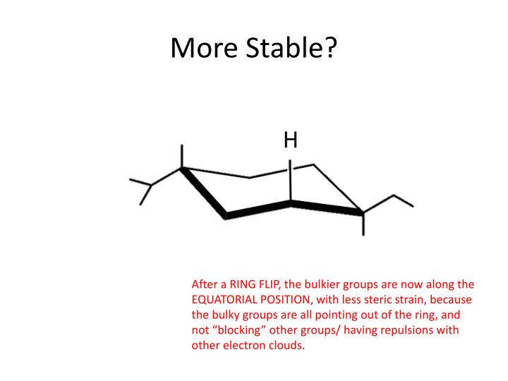 More Stable?