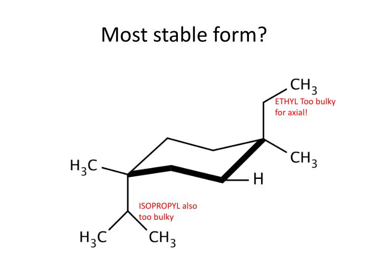 Most stable form?