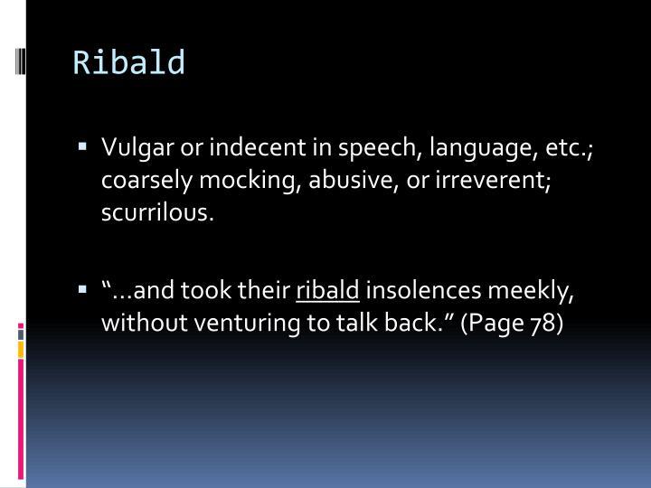 Ribald