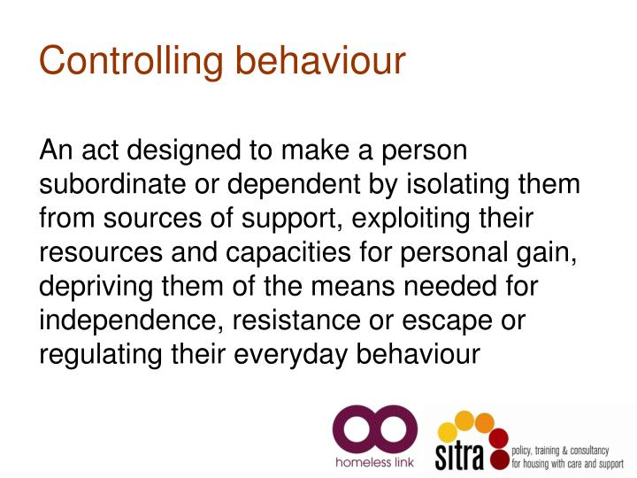 Controlling behaviour