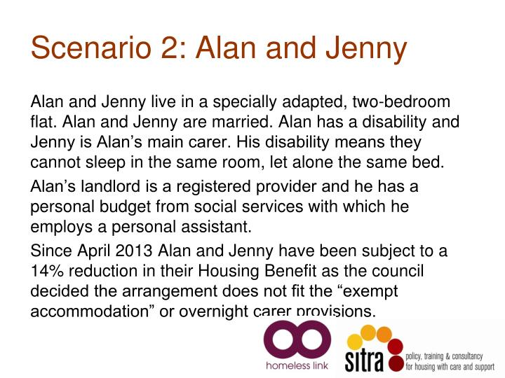 Scenario 2: Alan and Jenny