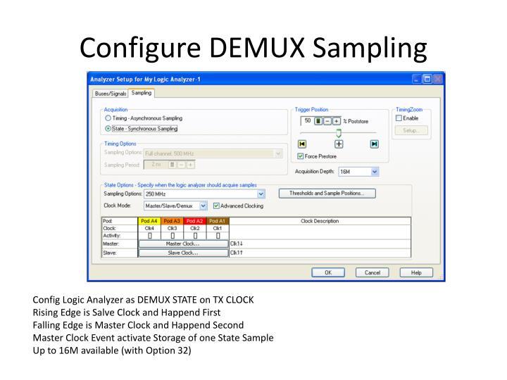 Configure DEMUX