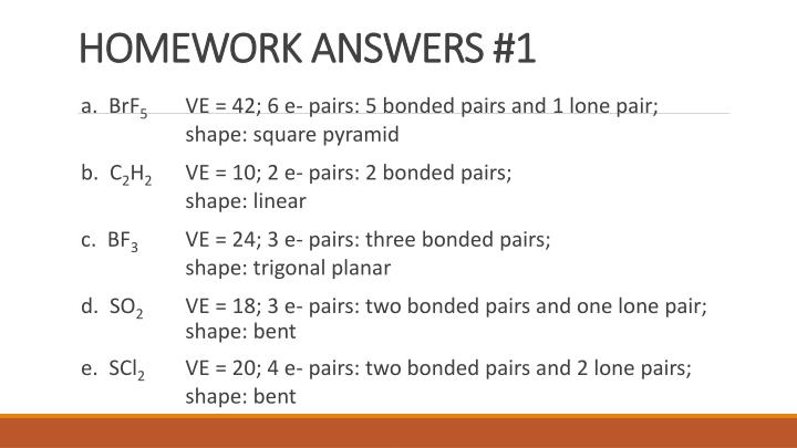 HOMEWORK ANSWERS #1