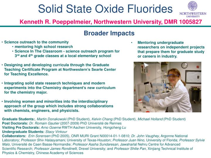 Solid State Oxide Fluorides