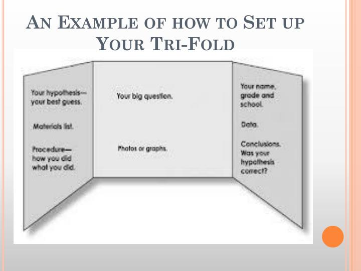 An Example of how to Set up Your Tri-Fold