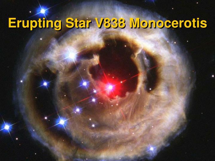 Erupting Star V838 Monocerotis
