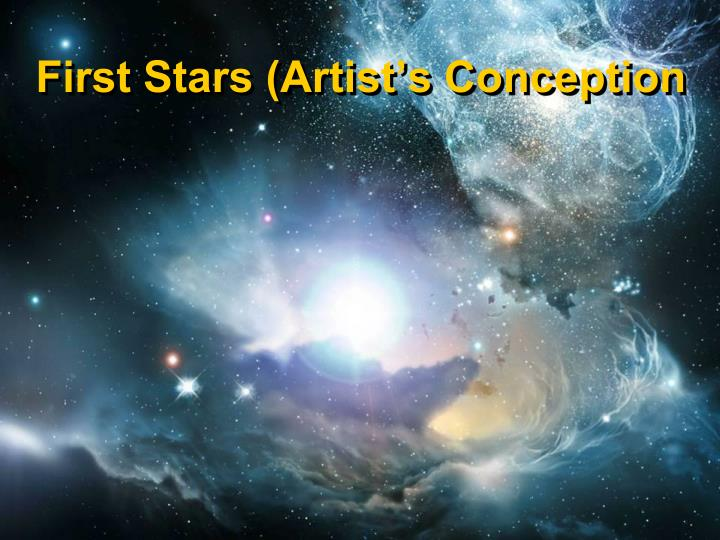 First Stars (Artist's Conception