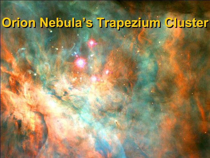 Orion Nebula's Trapezium Cluster