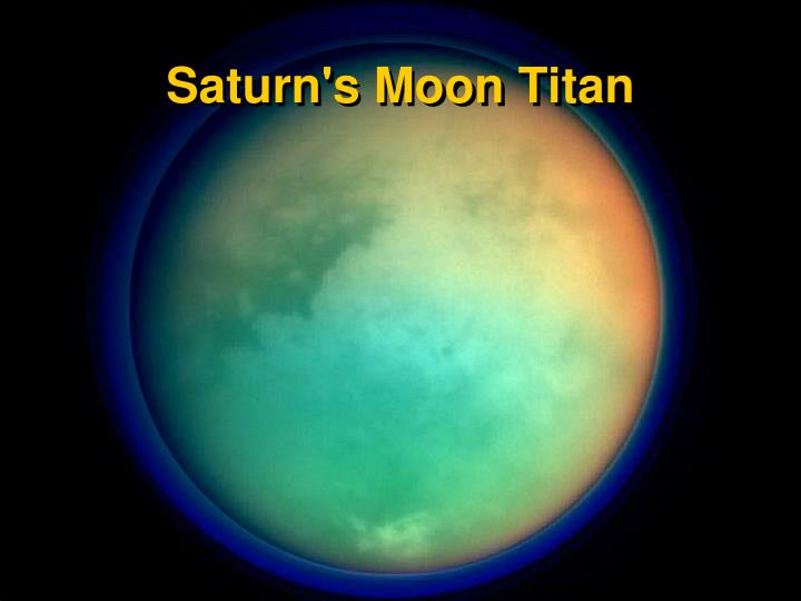 Saturn's Moon Titan