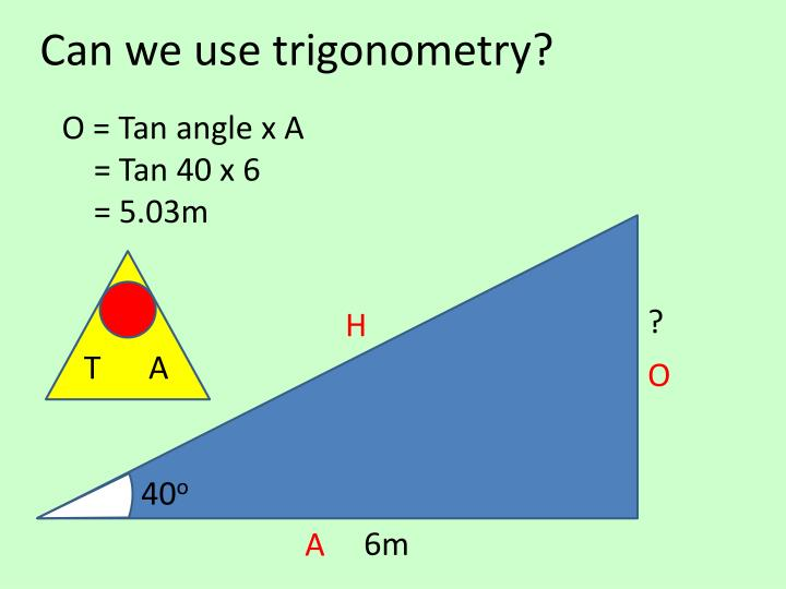 Can we use trigonometry