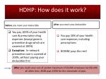 hdhp how does it work