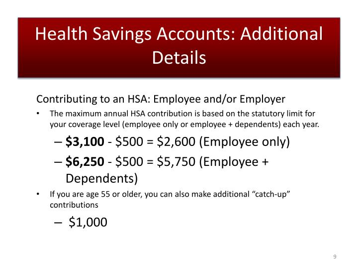 Health Savings Accounts: Additional Details