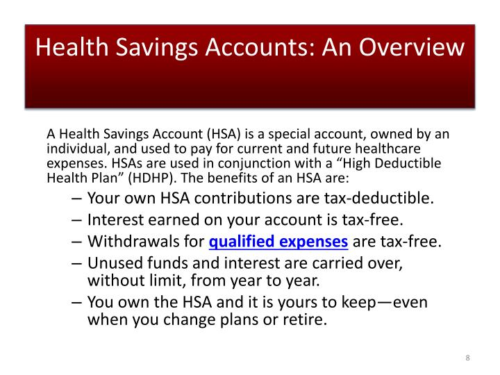 Health Savings Accounts: An Overview