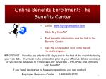 online benefits enrollment the benefits center