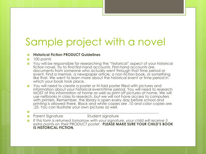 Sample project with a novel