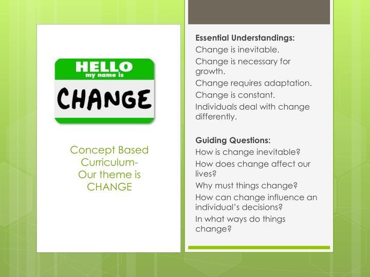 Concept Based Curriculum-