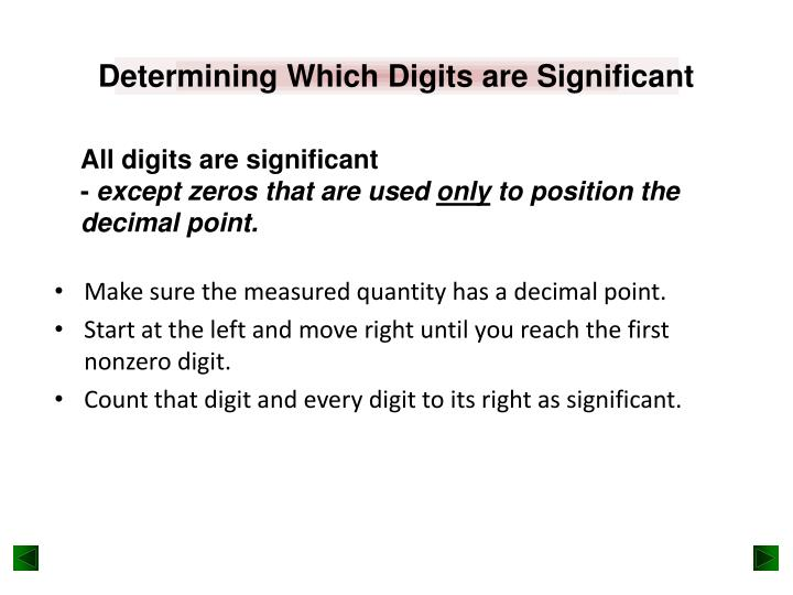Determining Which Digits are Significant