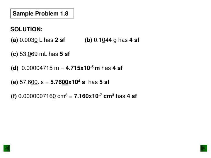 Sample Problem 1.8