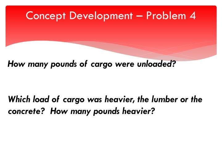 Concept Development – Problem 4
