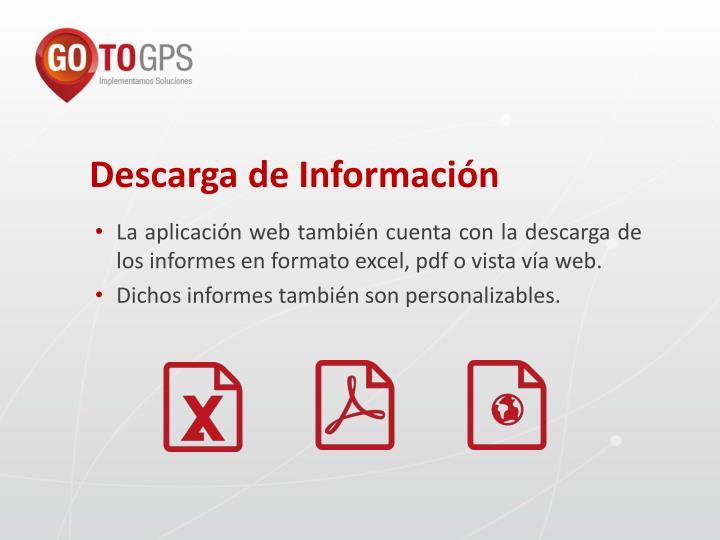 Descarga de Información