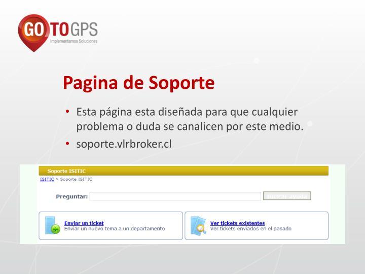 Pagina de Soporte
