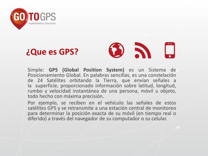 ¿Que es GPS?