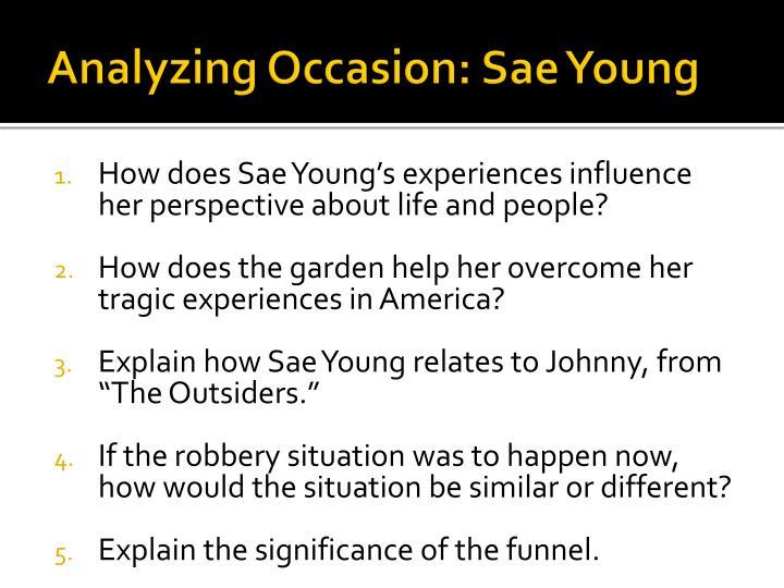 Analyzing Occasion: