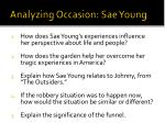 analyzing occasion sae young