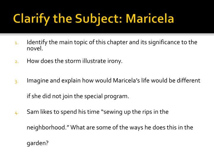 Clarify the Subject: