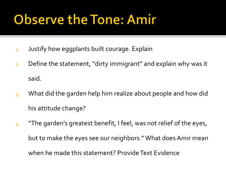 Observe the Tone: Amir