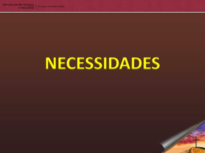 NECESSIDADES