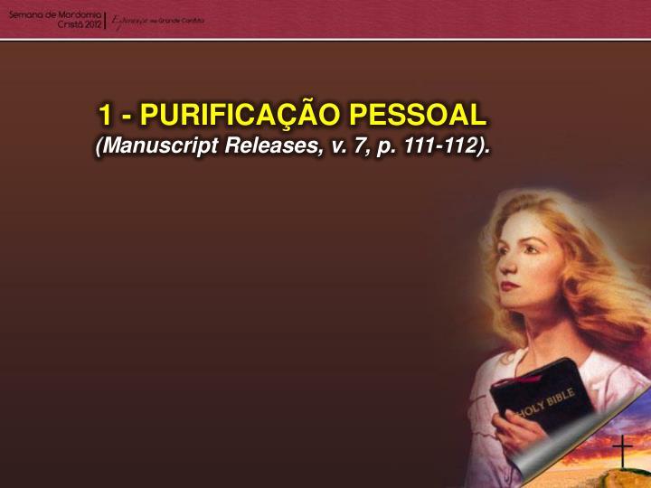 1 - PURIFICAÇÃO PESSOAL