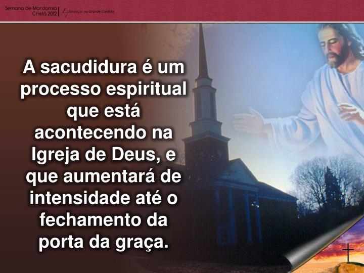 A sacudidura é um processo espiritual que está acontecendo na Igreja de Deus, e que aumentará de intensidade até o fechamento da porta da graça.