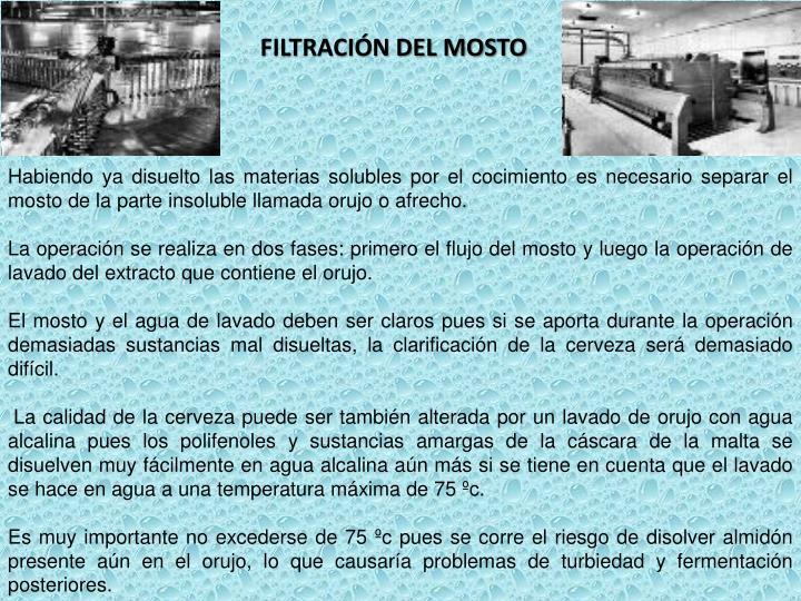FILTRACIÓN DEL MOSTO