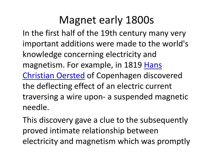 Magnet early 1800s