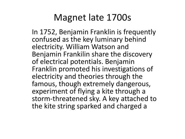 Magnet late 1700s