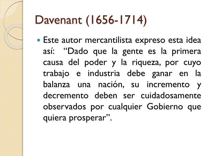 Davenant (1656-1714)