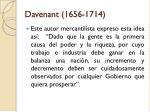 davenant 1656 1714