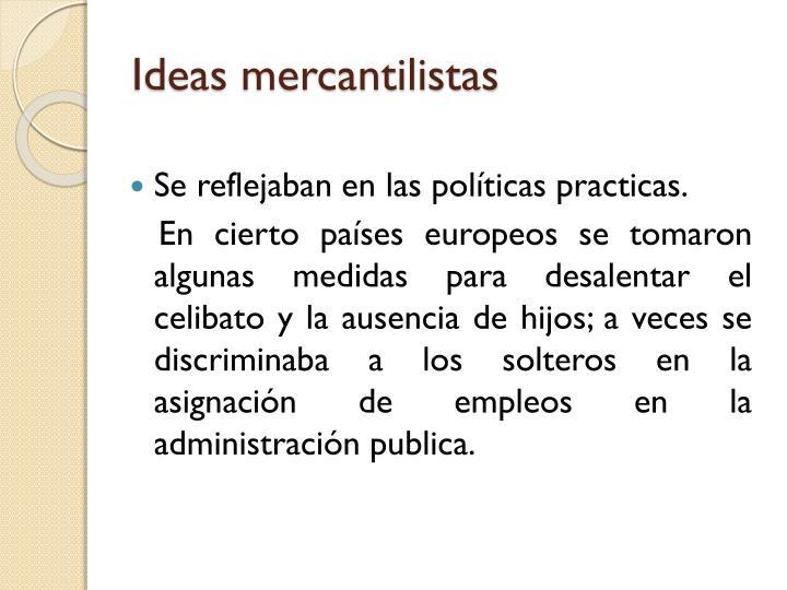 Ideas mercantilistas