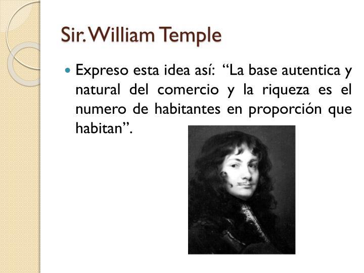 Sir. William Temple