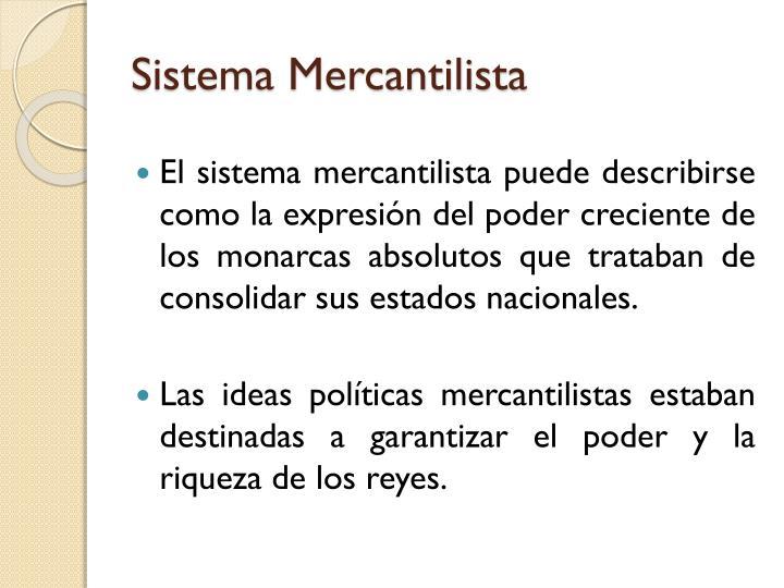 Sistema Mercantilista