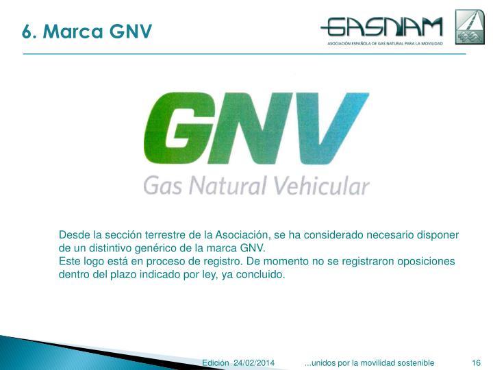 6. Marca GNV