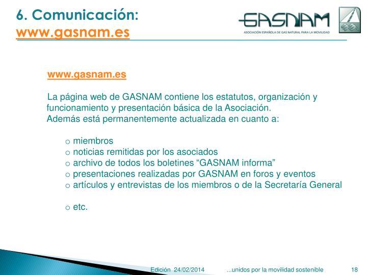 6. Comunicación: