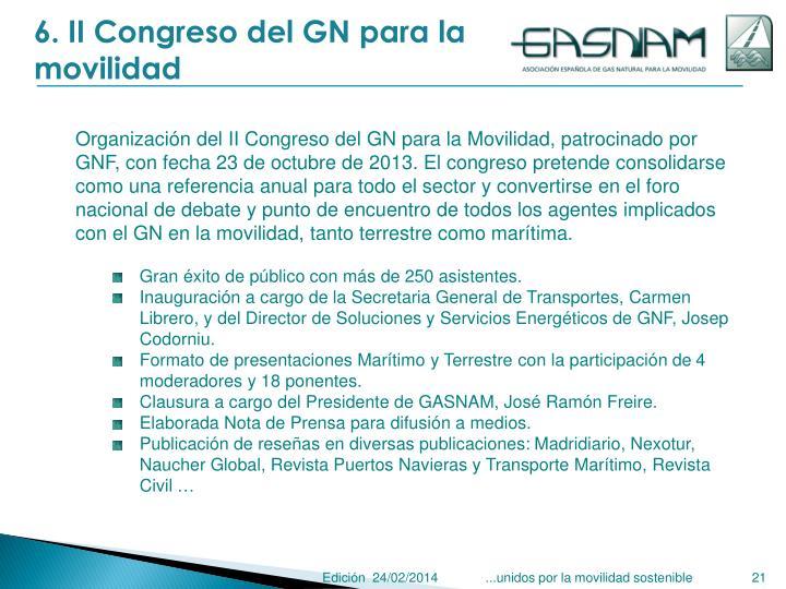6. II Congreso del GN para la movilidad