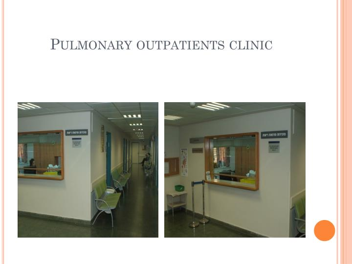 Pulmonary outpatients clinic
