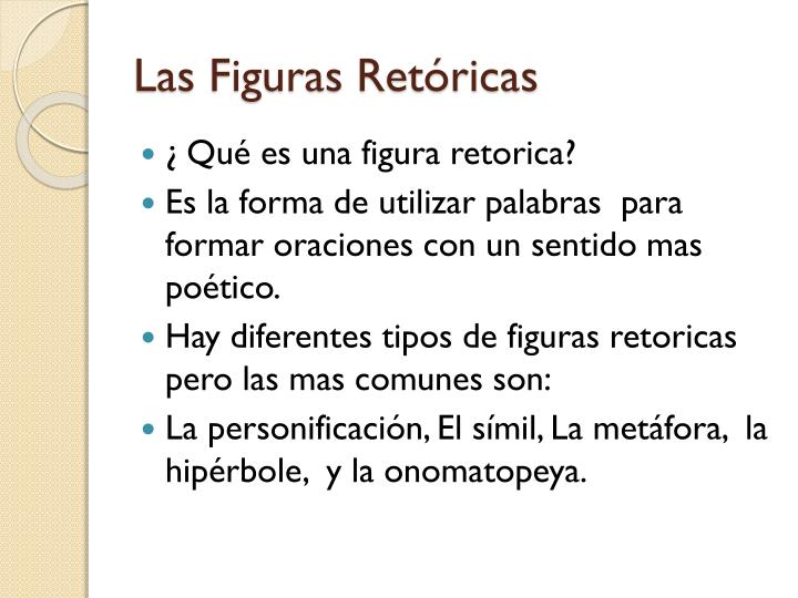Las Figuras Retóricas